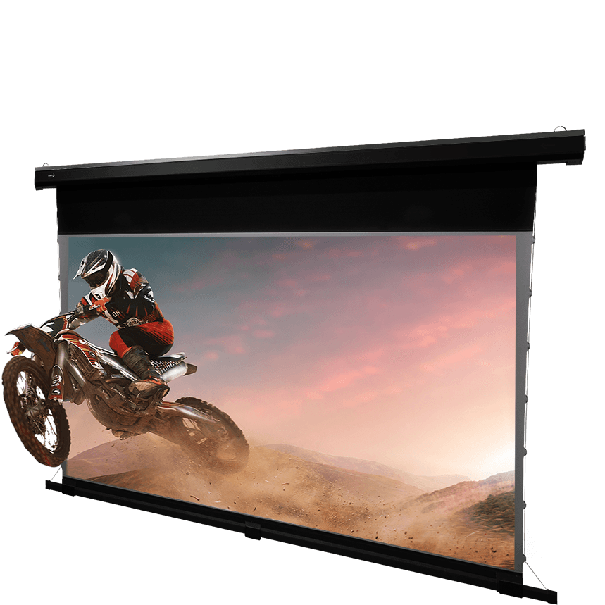 Aurora 8k – Motorized Tab-Tension Projection Screen