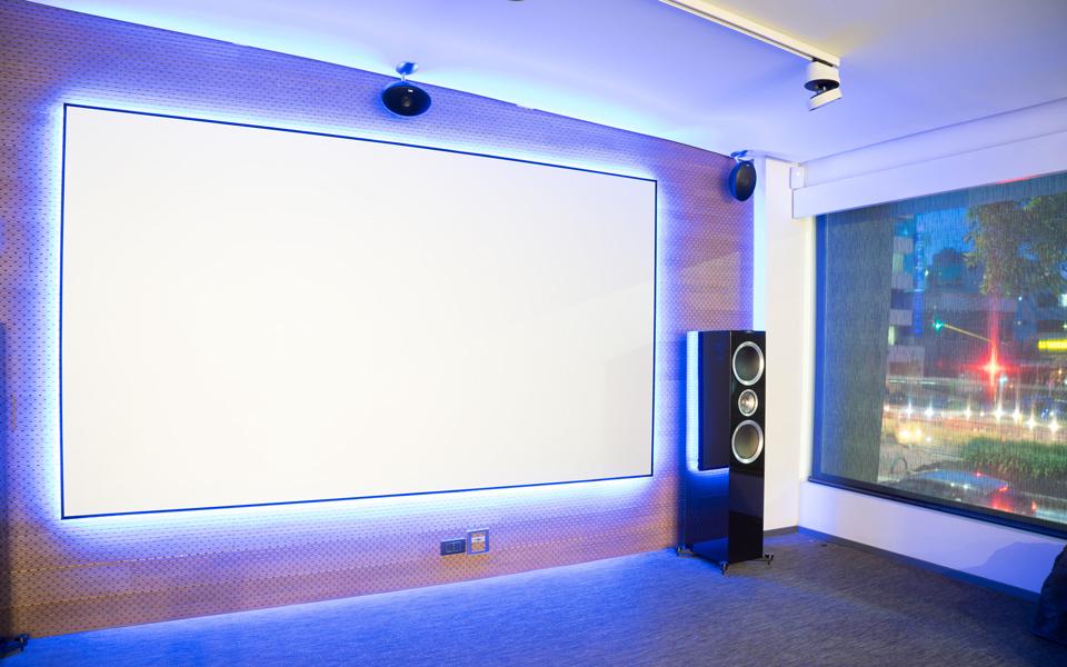 Reference Studio 4K NanoEdge Fixed Frame Projector Screen - Elunevision